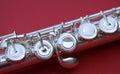 Flute keys Royalty Free Stock Photo