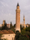Fluted Minaret Mosque in Antalya Royalty Free Stock Photo