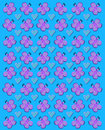 Flutter heart blue rows of butterflies and gearts fill image background is bright Royalty Free Stock Photos