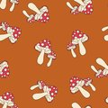 Fly-agaric pattern seamless pantone Royalty Free Stock Photo
