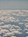 Fly and cloud a view of a with clouds Royalty Free Stock Photography