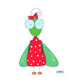 Fly cute clothes and spider insects picture cartoon style