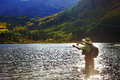 Fly Fisher Royalty Free Stock Photo
