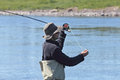 Fly fisherman Royalty Free Stock Photo