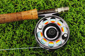 Fly fishing tackle Royalty Free Stock Photo