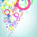 Fly multicolored circles Royalty Free Stock Photo