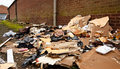 Fly tipping of refuse Royalty Free Stock Photo