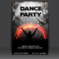 Flyer Design with Dancing Young People Stock Images
