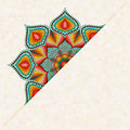 Flyer Oriental Design with Mandala Pattern.