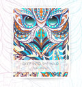 Flyer template with patterned owl.