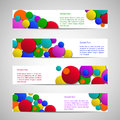 Flyers with colored circles Stock Image
