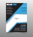 Flyers design template vector. Brochure report business magazine poster