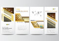 Flyers set, modern banners. Business templates. Cover design template, easy editable, flat layouts. Islamic gold pattern