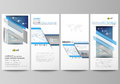 Flyers set, modern banners. Business templates. Cover design template, vector layouts. Blue color abstract infographic