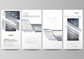 Flyers set, modern banners. Business templates. Cover design template, vector layouts. Chemistry pattern, molecular