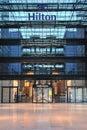 Flygplatsfacade frankfurt Hilton Hotel Royaltyfri Fotografi