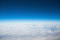Flying above the clouds Royalty Free Stock Photo