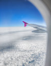 Flying above sky and clouds Royalty Free Stock Photo