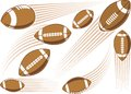 Flying american football ball symbolic stylized Stock Photo