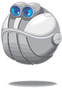 Flying angry round Robot vector Stock Images