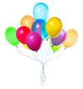 Flying balloons isolated Royalty Free Stock Photos