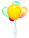 Flying balloons isolated Royalty Free Stock Image