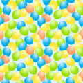 Flying balloons seamless background Royalty Free Stock Photo