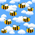 Flying bees Stock Photography
