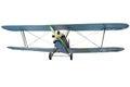 Flying biplane Royalty Free Stock Photo