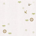 Flying birds and bamboo leaves patterns on Japanese paper