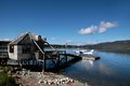 Flying boat on the lake te anau south island new zealand Stock Image