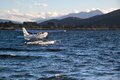 Flying boat on the lake te anau south island new zealand Royalty Free Stock Photos