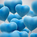 Flying bunch of balloon hearts Royalty Free Stock Photo