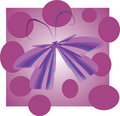 Flying butterfly on a purple background Royalty Free Stock Photos