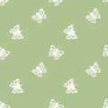 Flying butterfly seamless pattern in retro style Royalty Free Stock Photo