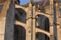 Flying buttress in the cathedral of Beaubais Royalty Free Stock Photo