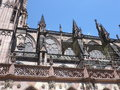 Flying buttress in strassbourg cathedral Royalty Free Stock Images
