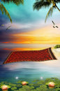 Flying carpet Royalty Free Stock Photography