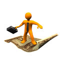Flying Carpet Dollar Royalty Free Stock Images