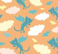 Flying cats Stock Photography