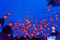 Photo : Flying Chinese Sky Lanterns