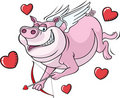 Flying Cupid Pig Royalty Free Stock Photos
