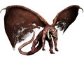 Flying demon with curved horns Stock Photos
