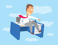Flying desk career opportunities or Royalty Free Stock Image