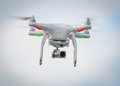 Flying drone Royalty Free Stock Photo
