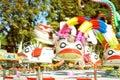 Flying ducks park ride Royalty Free Stock Photo