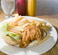 Flying fish sandwich Caribbean style Barbados Stock Image
