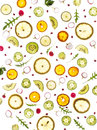 Flying fresh greens and fruits, cucumber, rucola,cucumber, lemon, brussel sprouts, parsley, Royalty Free Stock Photo