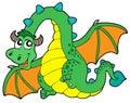 Flying green dragon Royalty Free Stock Photo