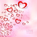 Flying heart love background illustration of Royalty Free Stock Photography